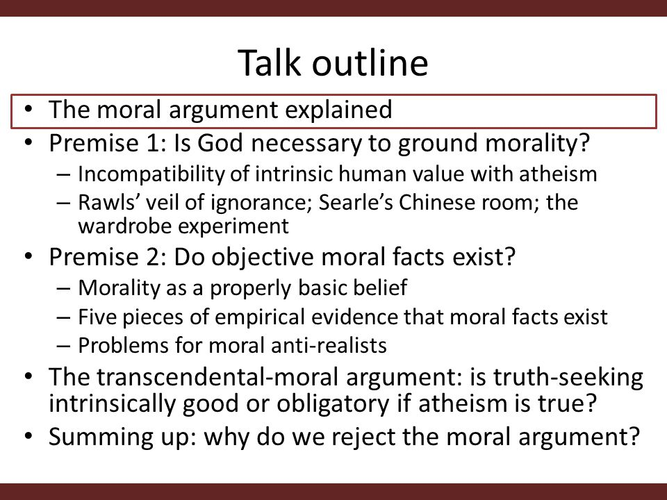 Evidence supporting the existence and immediate perception of moral facts Point 2.
