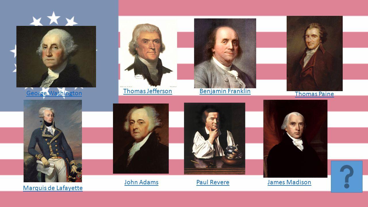 People of the American Revolution Joseph Michetti 10 th Grade U.S. History
