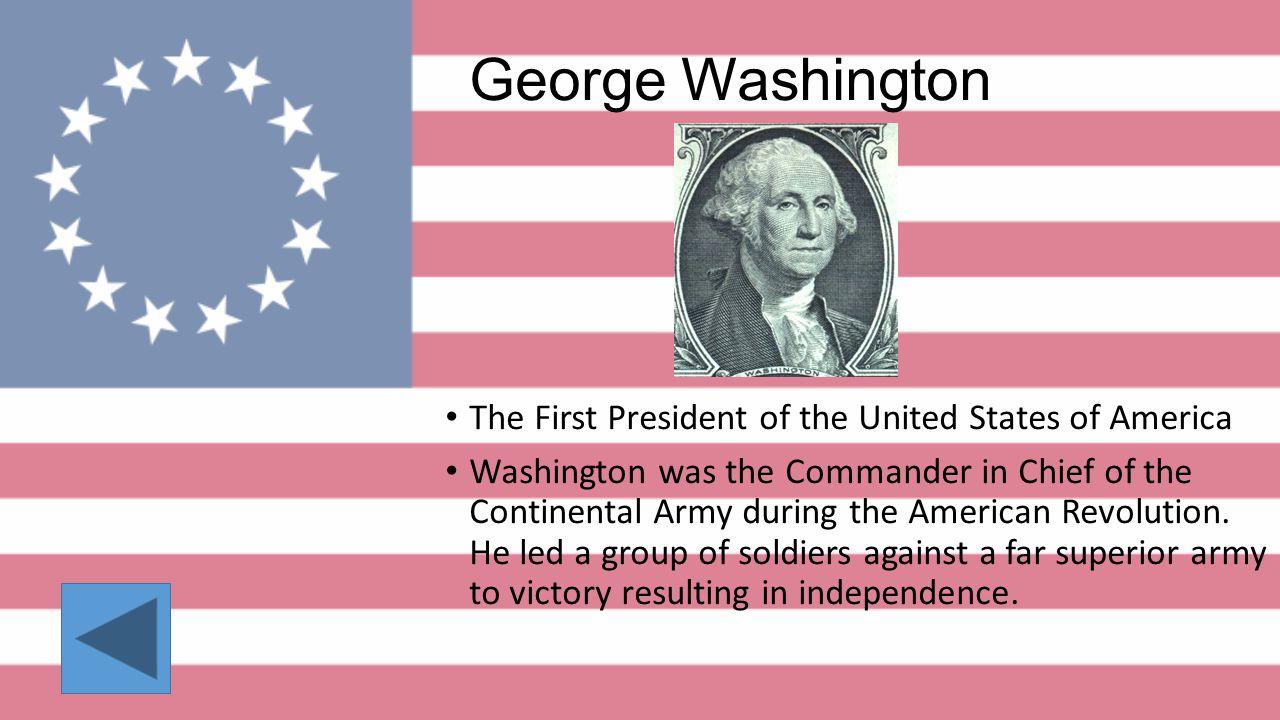 George Washington Thomas JeffersonBenjamin Franklin Thomas Paine Marquis de Lafayette John Adams Paul RevereJames Madison