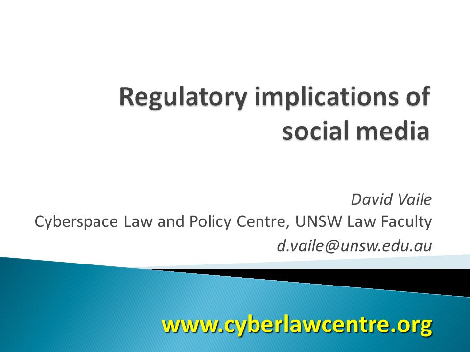 David Vaile Cyberspace Law and Policy Centre, UNSW Law Faculty d.vaile@unsw.edu.auwww.cyberlawcentre.org