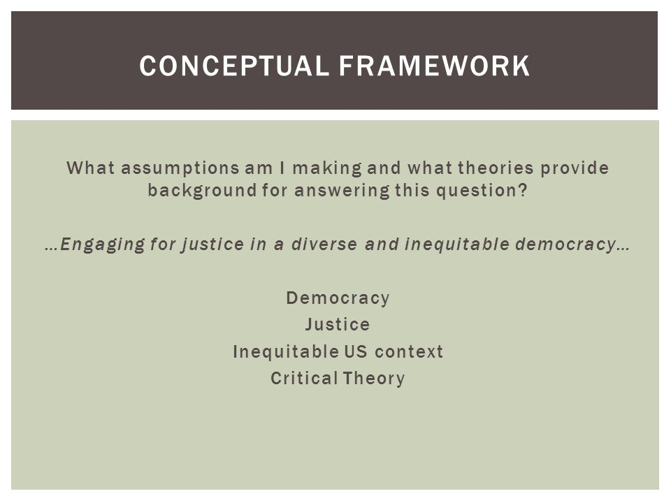  Understanding the root causes of inequality  Active thinking: a tendency and motivation for individuals to think deeply and analyze the causes for individual actions/behaviors (Gurin et al., 2011).Gurin et al., 2011  Active thinking is (arguably) domain specific—the complexity of causal attribution for an event/behavior is dependent on variables such as interest, experience, and knowledge (Fletcher, Danilovics, Fernandez, Peterson, & Reeder, 1986)Fletcher, Danilovics, Fernandez, Peterson, & Reeder, 1986  To positively impact racial justice, need active thinking about the causes and impacts of racial/ethnic inequality   Structural thinking about racial inequality  Analysis of causes of racial inequality from a structural level  For example…  Racial inequality in test scores ADDRESSING INEQUALITY