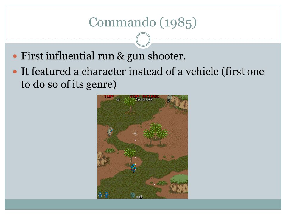 Commando (1985) First influential run & gun shooter.