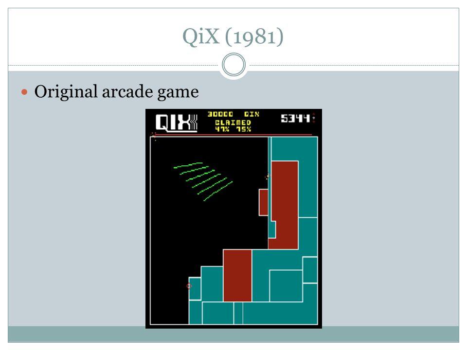 QiX (1981) Original arcade game