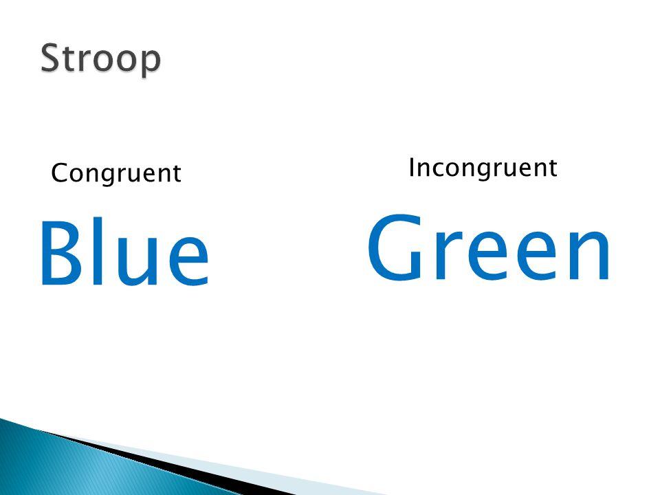 Congruent Incongruent Blue Green