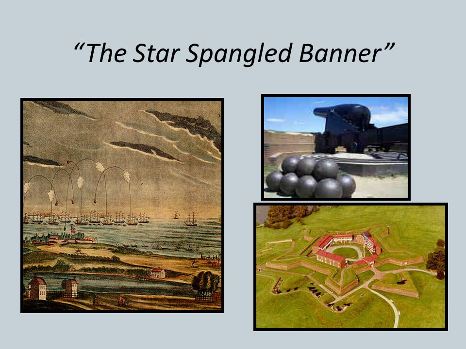 """""""The Star Spangled Banner"""" Francis Scott Key, a prisoner on a British barge witnessed the British bombardment of Fort McHenry, near Baltimore for 12 h"""