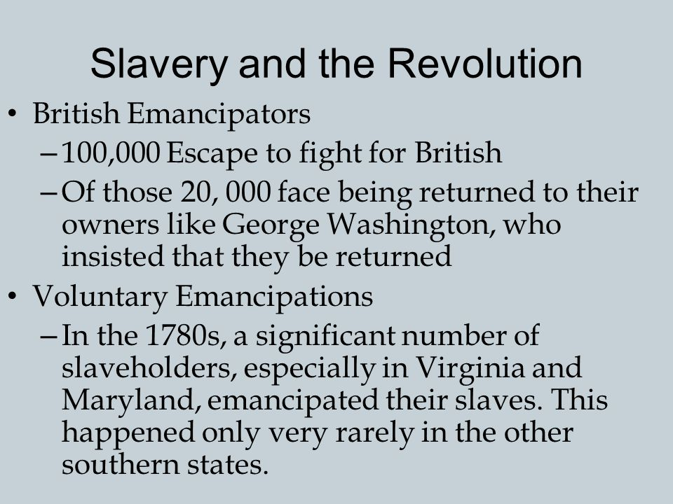 Slavery and the Revolution The Cause of General Liberty – Only with the Revolution, however, did slavery emerge as a subject of public debate and cont