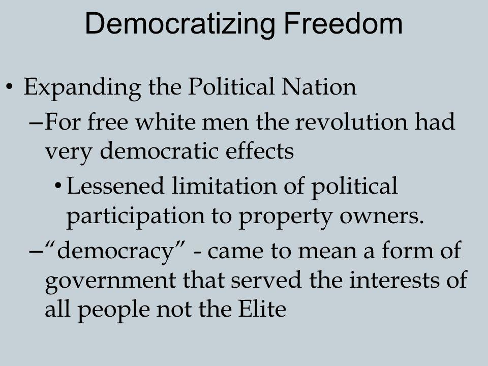 Toward Religious Toleration The Revolution also expanded religious freedoms.