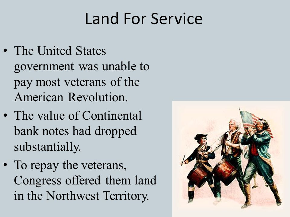 What Was Solved? Since Congress could NOT tax the citizens, selling land at a public auction would help to benefit the new U.S. government and solve t