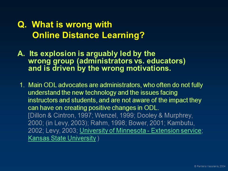 Demand for Online Distance Learning © Pantelis Vassilakis, 2004