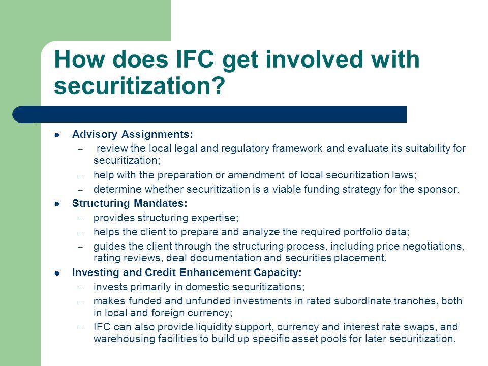 Successful IFC securitizations Garanti Leasing – Turkey Sogeko – Korea NIIT – India SAHL – South Africa