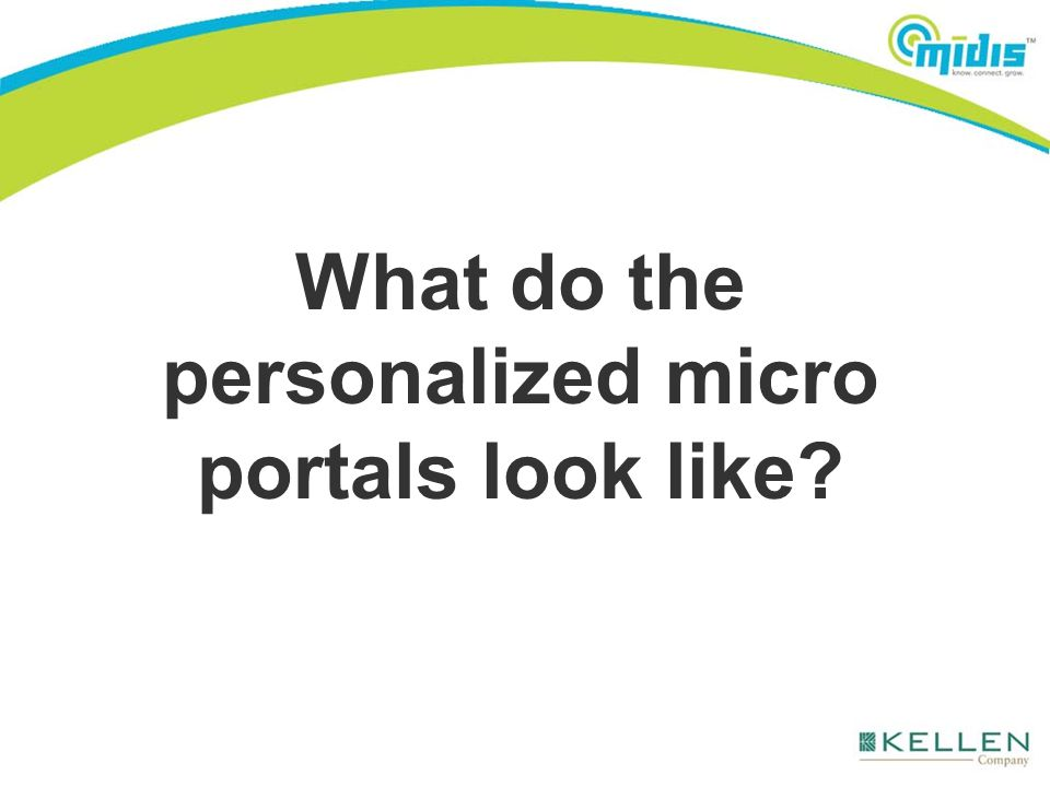 What do the personalized micro portals look like?