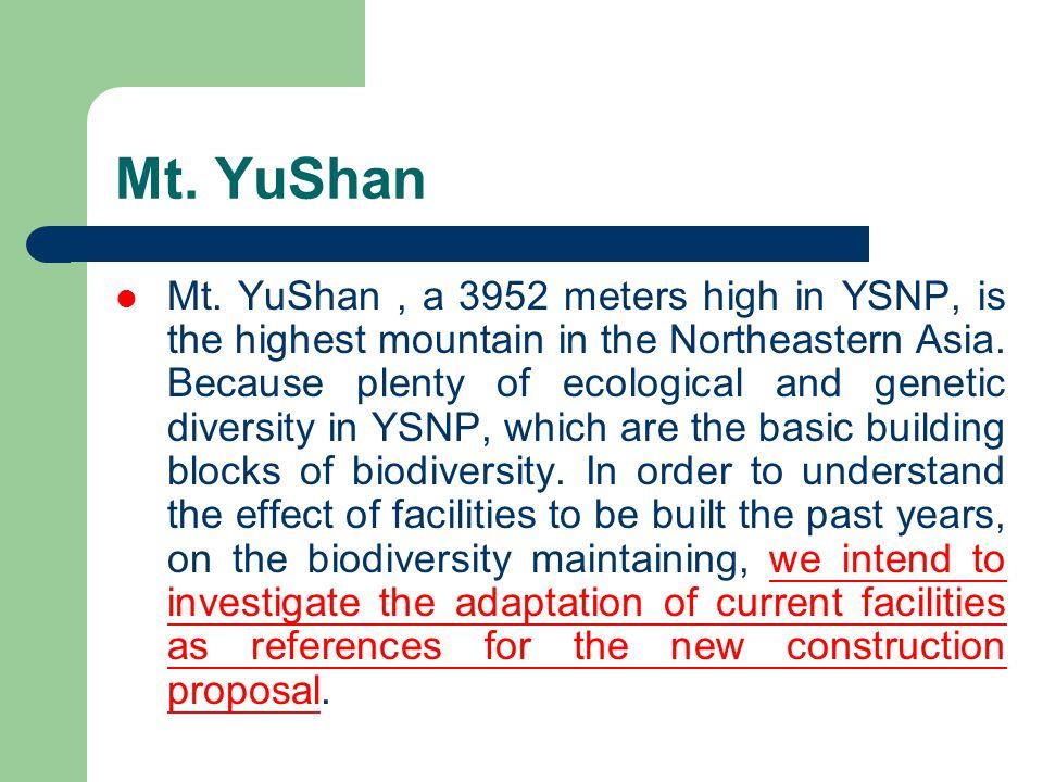 Mt. YuShan Mt.