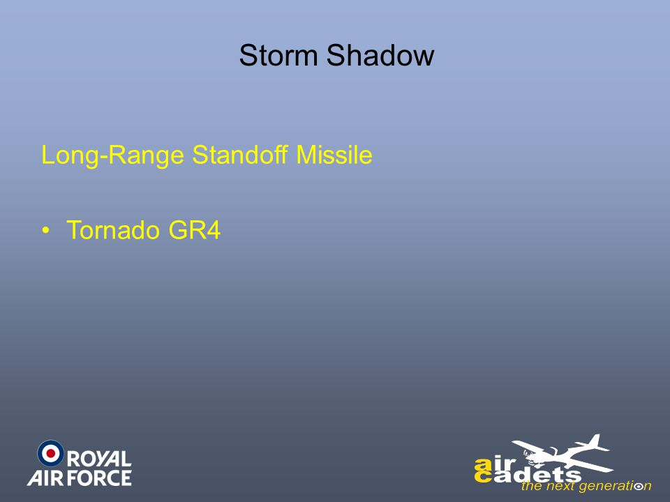 Long-Range Standoff Missile Tornado GR4