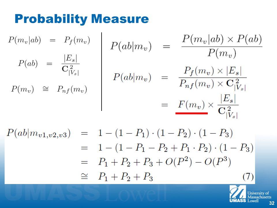 32 Probability Measure