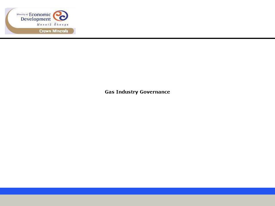 Gas Industry Governance