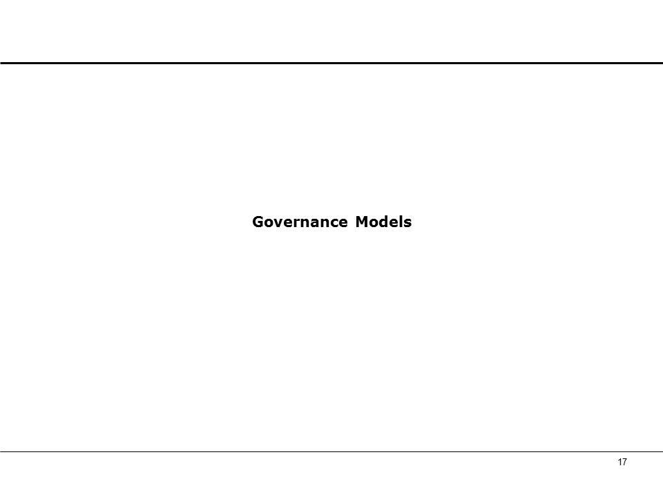 17 Governance Models