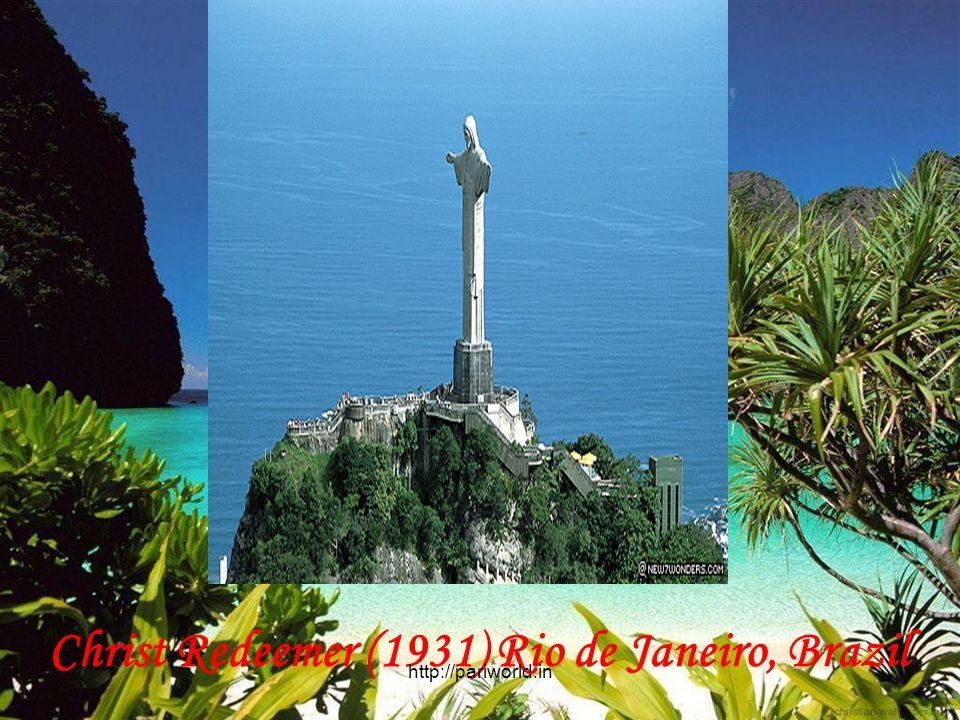 Christ Redeemer (1931) Rio de Janeiro, Brazil http://pariworld.in
