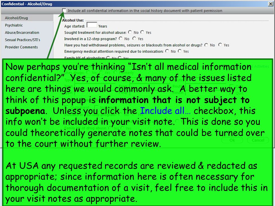 "Now perhaps you're thinking ""Isn't all medical information confidential?"" Yes, of course, & many of the issues listed here are things we would commonl"