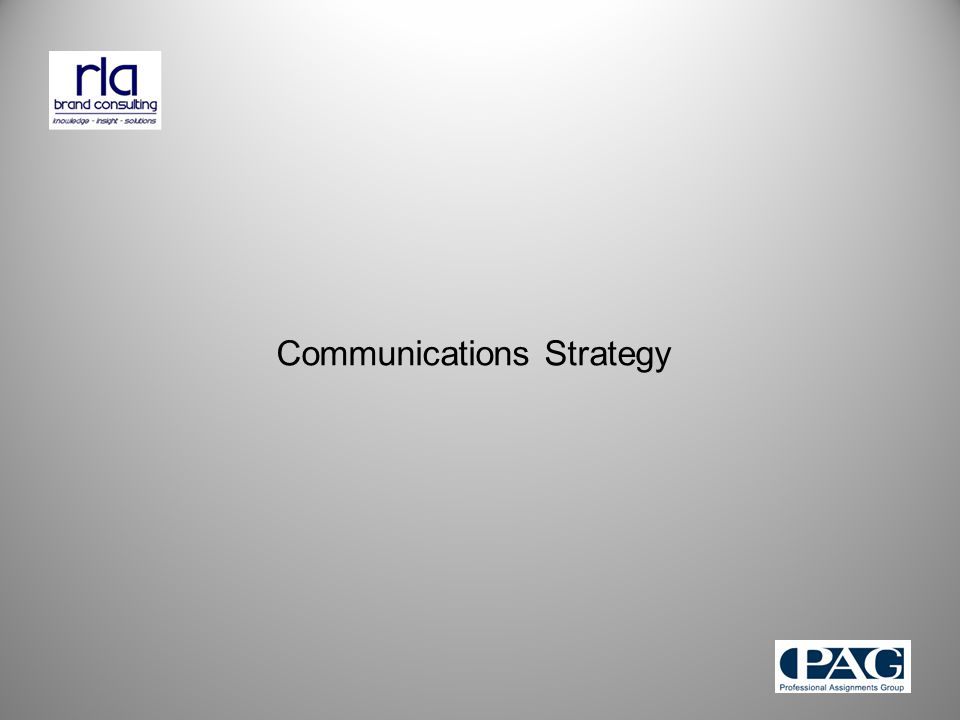 Communications Strategy
