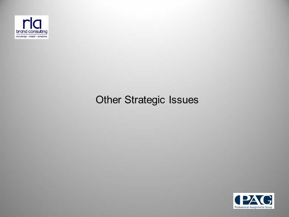 Other Strategic Issues