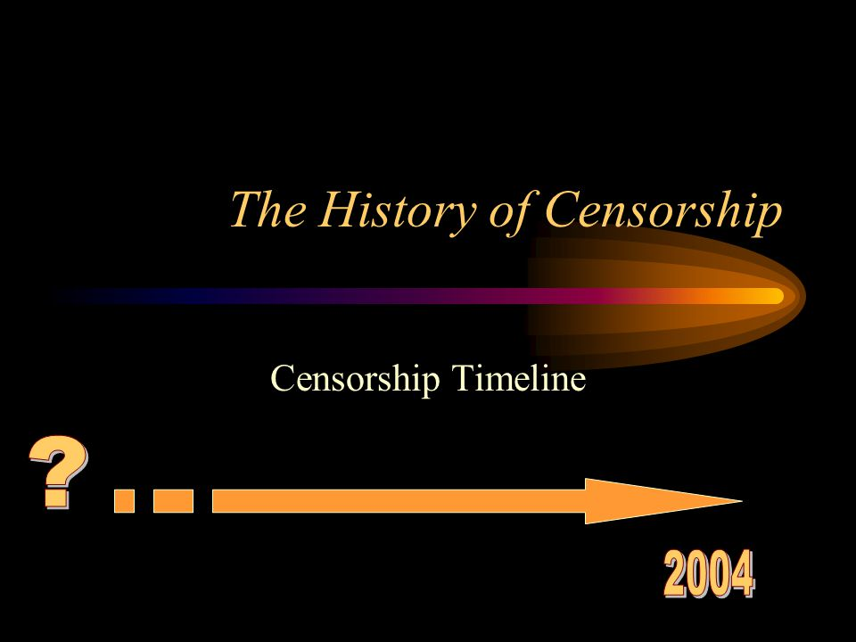 The History of Censorship Censorship Timeline