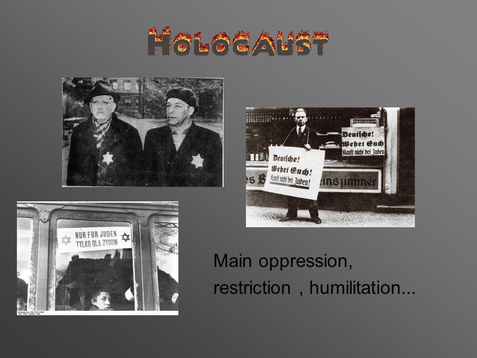 Main oppression, restriction, humilitation...