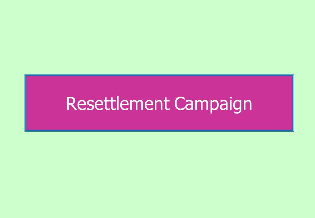 Resettlement Campaign