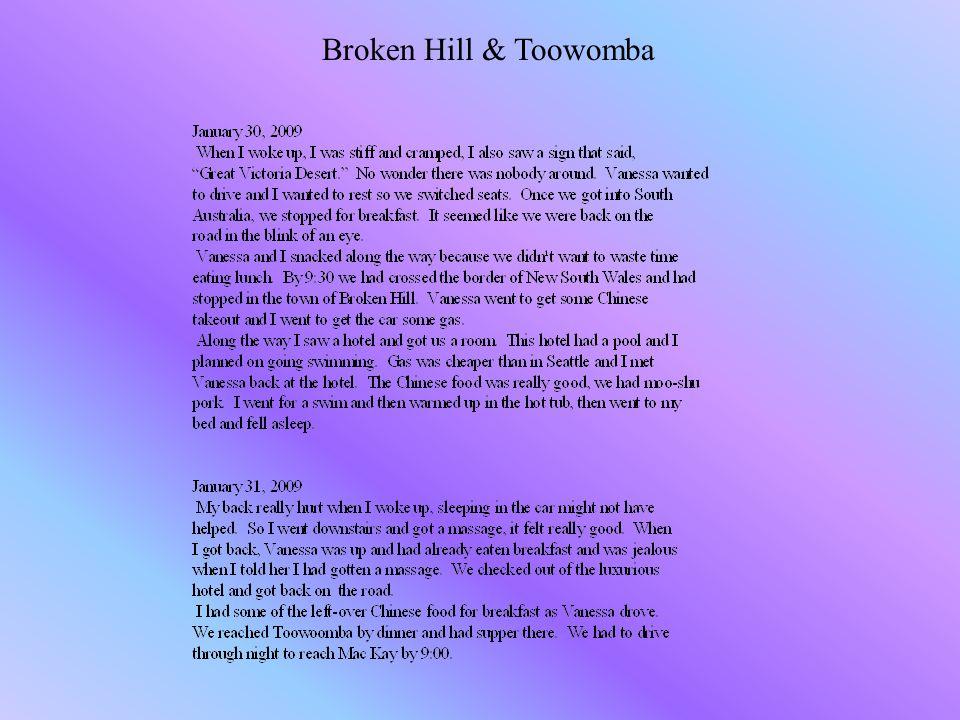 Broken Hill & Toowomba