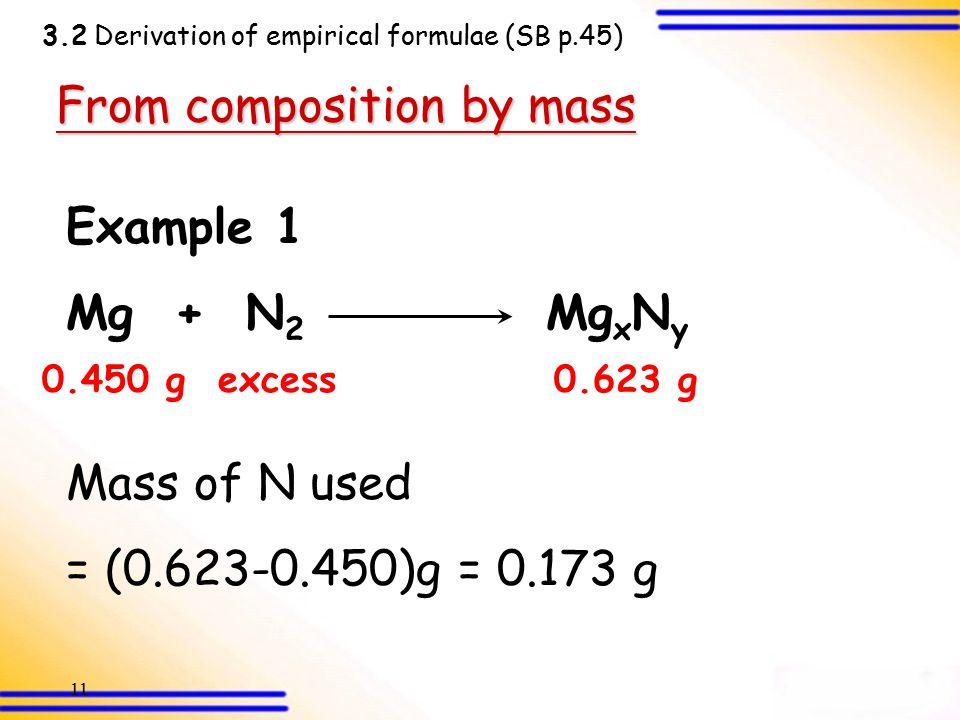 10 3.2 Derivation of Empirical Formulae