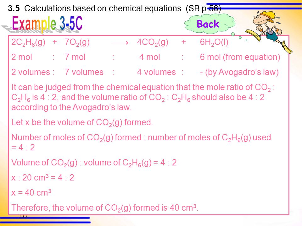 132 Calculate the volume of carbon dioxide formed when 20 cm 3 of ethane and 70 cm 3 of oxygen are exploded, assuming all volumes of gases are measure