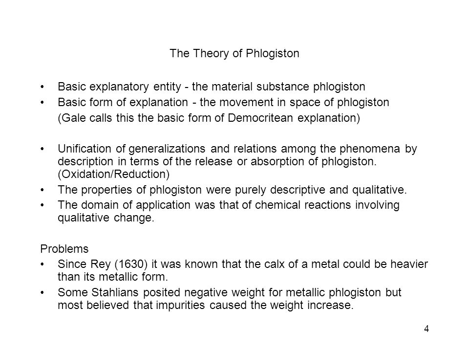 5 Priestley (1733-1804) Plants dephlogisticate the air (cycle between plants and animals).