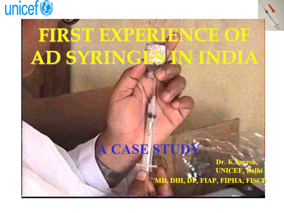 BACKGROUND Before 1985: –Syringes & needles for vaccination/ other uses were state responsibility –Sterilization process was boiling in saucepan Electric sterilizer & autoclave –Syringes & needles supply Inadequate