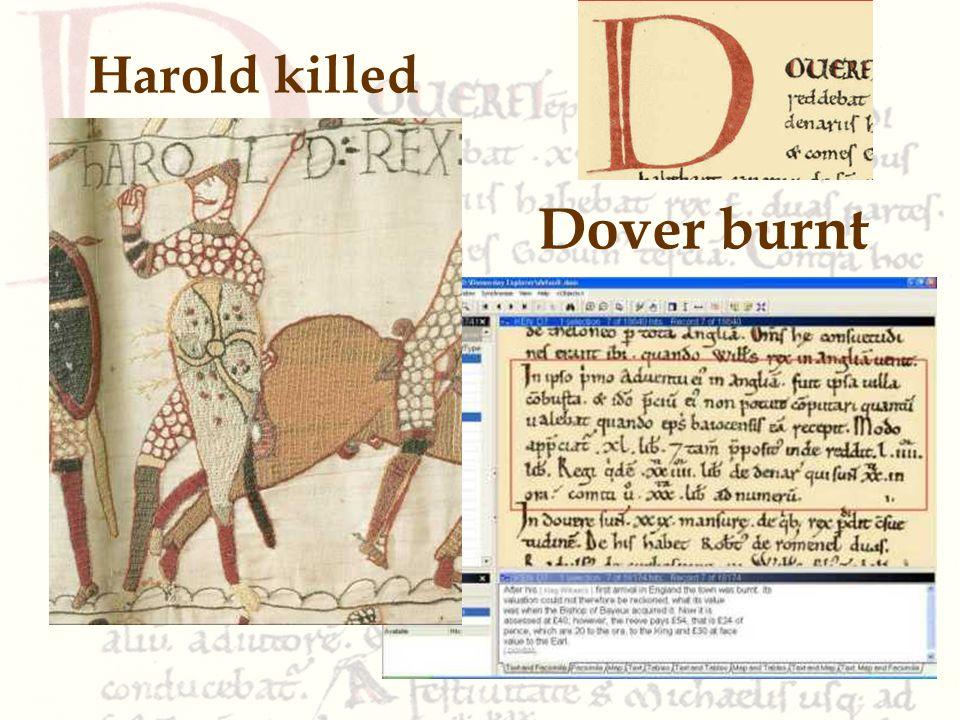 Dover burnt Harold killed