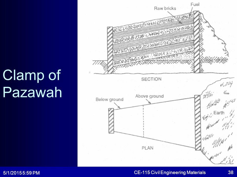 5/1/2015 6:01 PM CE-115 Civil Engineering Materials38 Clamp of Pazawah
