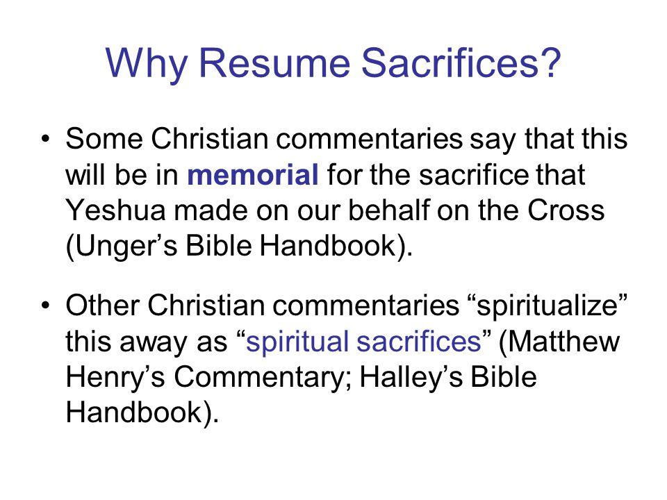 Why Resume Sacrifices.