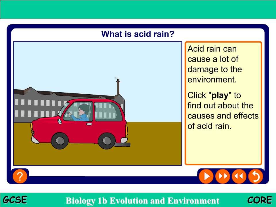 Biology 1b Evolution and Environment GCSE CORE Acid rain