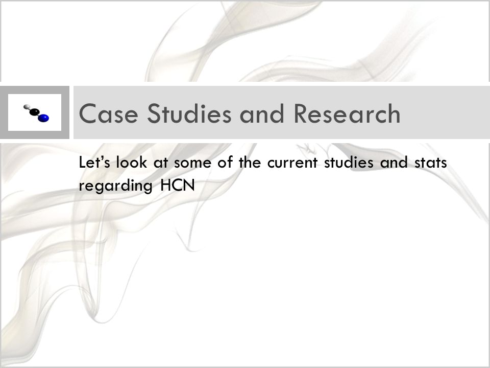 Let's look at some of the current studies and stats regarding HCN Case Studies and Research