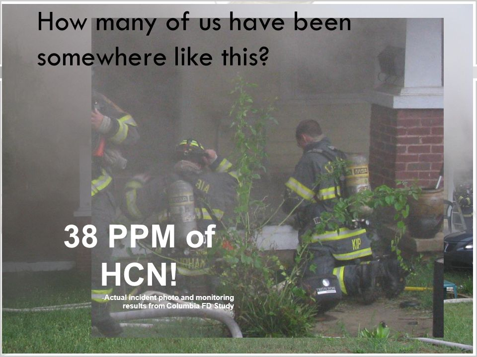 How many of us have been somewhere like this. 38 PPM of HCN.