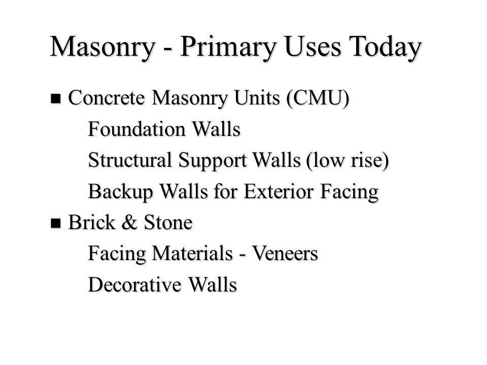 10 Brick Masonry - Uniqueness Fire Resistance Fire Resistance Size Size Durability Durability