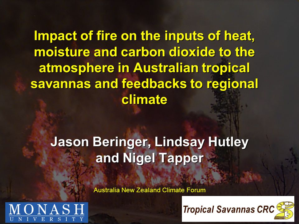 Overview  Introduction – Fire in the North  Effect of fire on the energy balance  Effect of fire on local to regional climate  The savanna fire experiment  Preliminary results  Conclusions