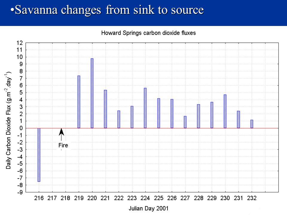 Savanna changes from sink to sourceSavanna changes from sink to source