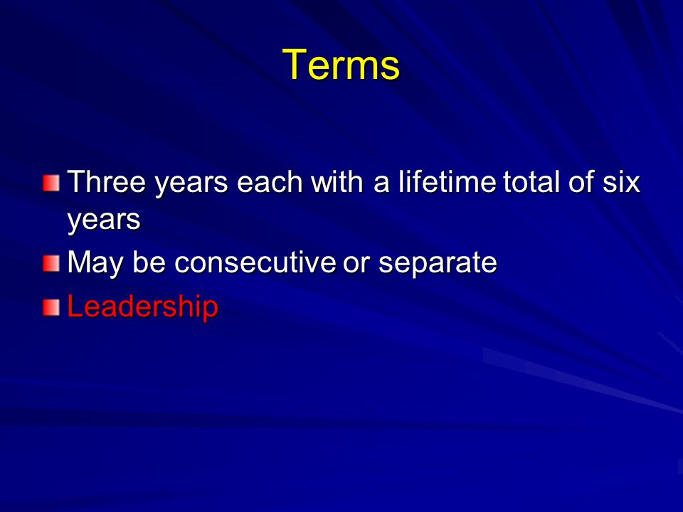 Leadership ChairVice-ChairSecretaryTreasurer