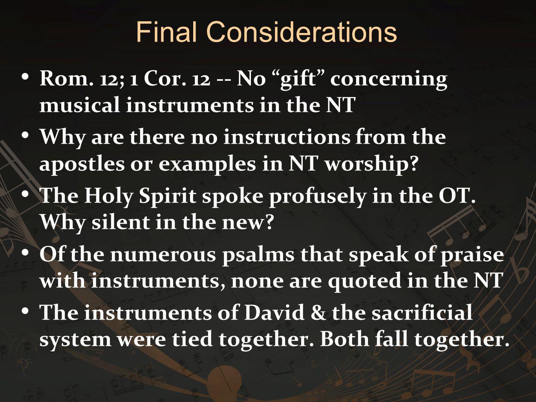 Rom. 12; 1 Cor.