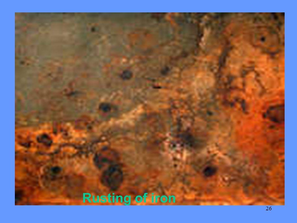 26 Rusting of iron