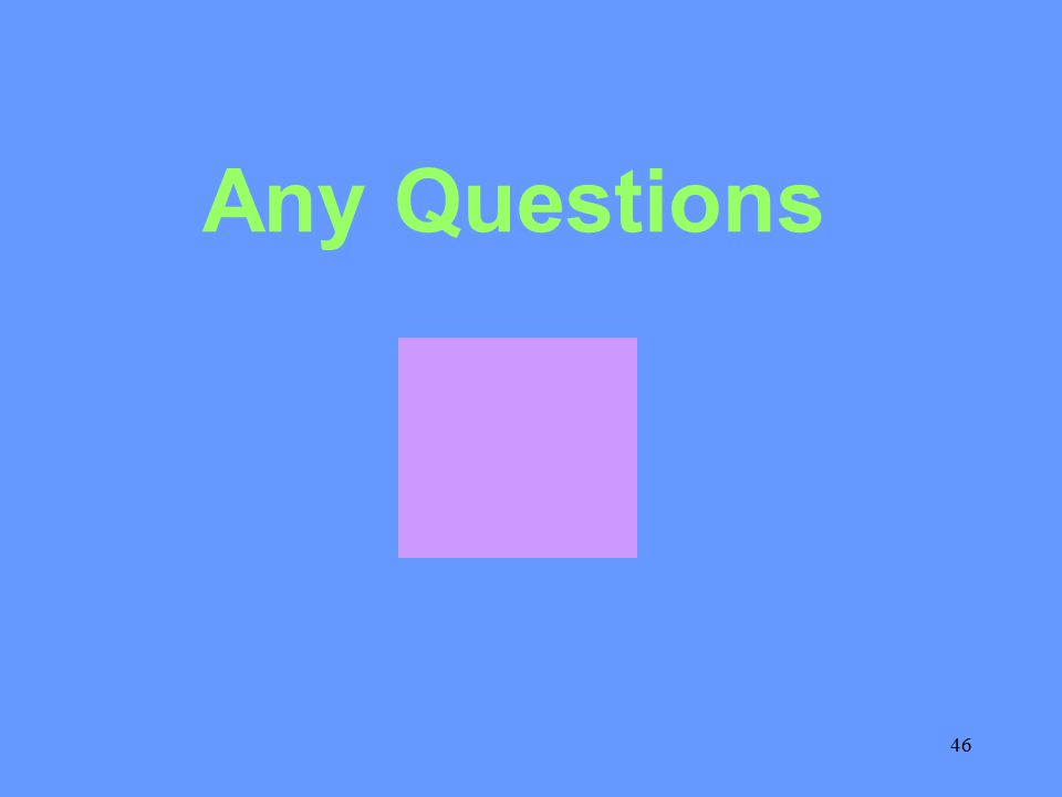 46 Any Questions