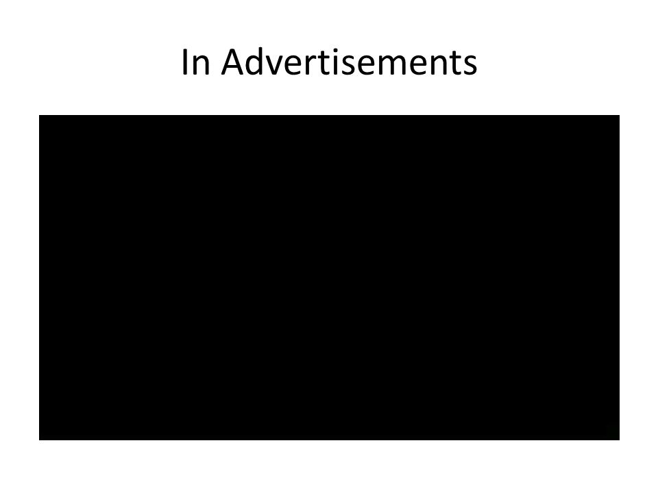 In Advertisements