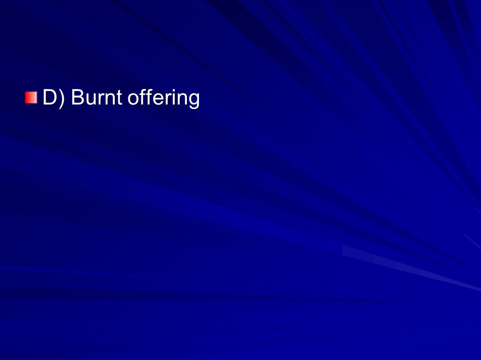 D) Burnt offering