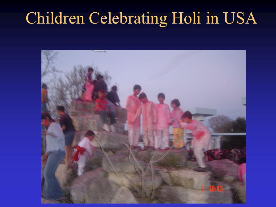 Children Celebrating Holi in USA