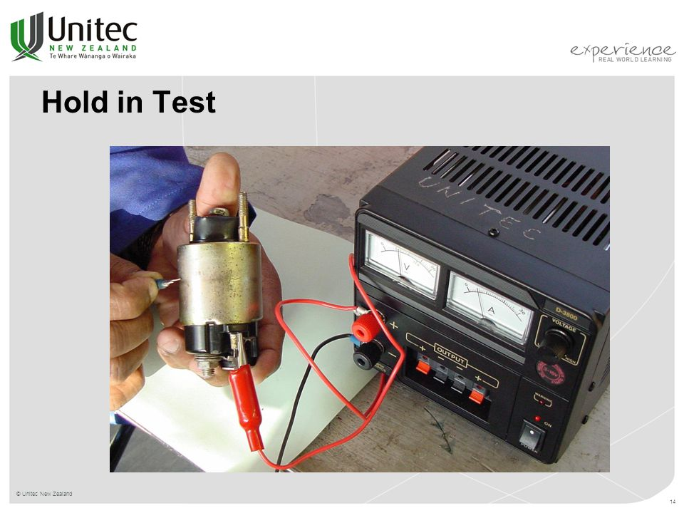 Hold in Test © Unitec New Zealand 14