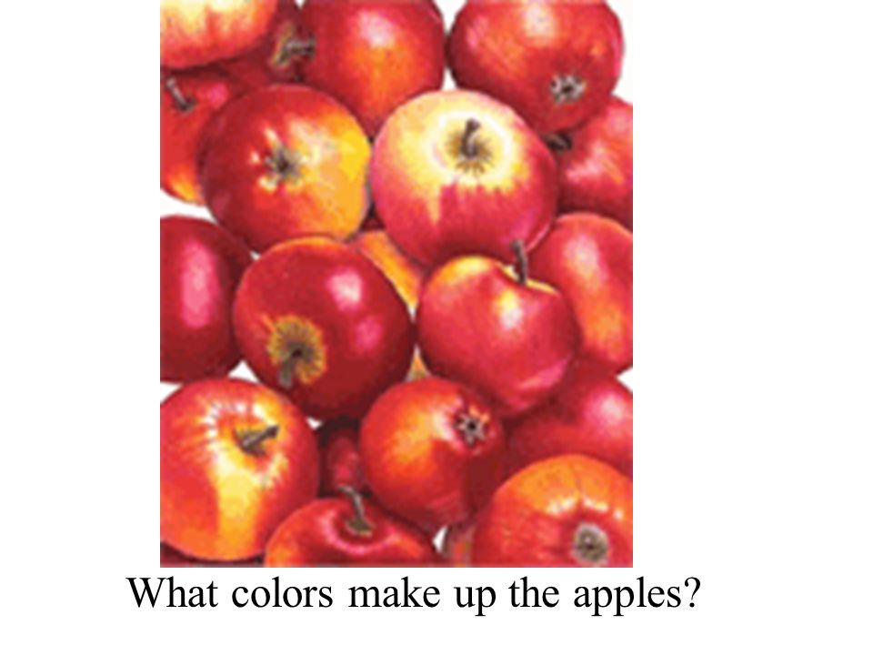 What colors make up the apples?